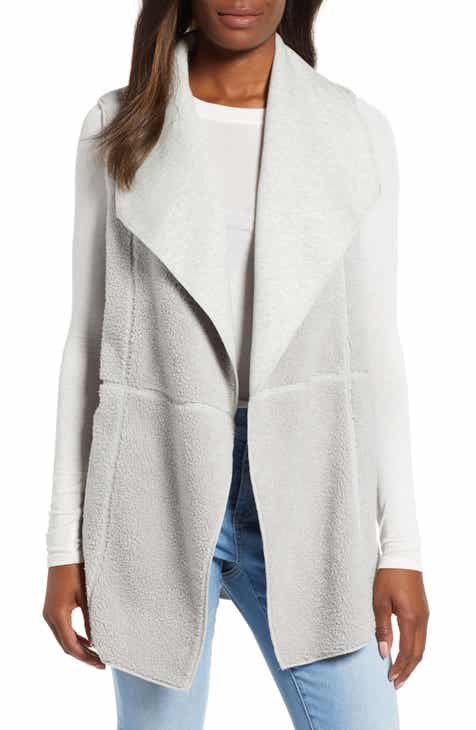 Tommy Bahama Faux Shearling Reversible Vest
