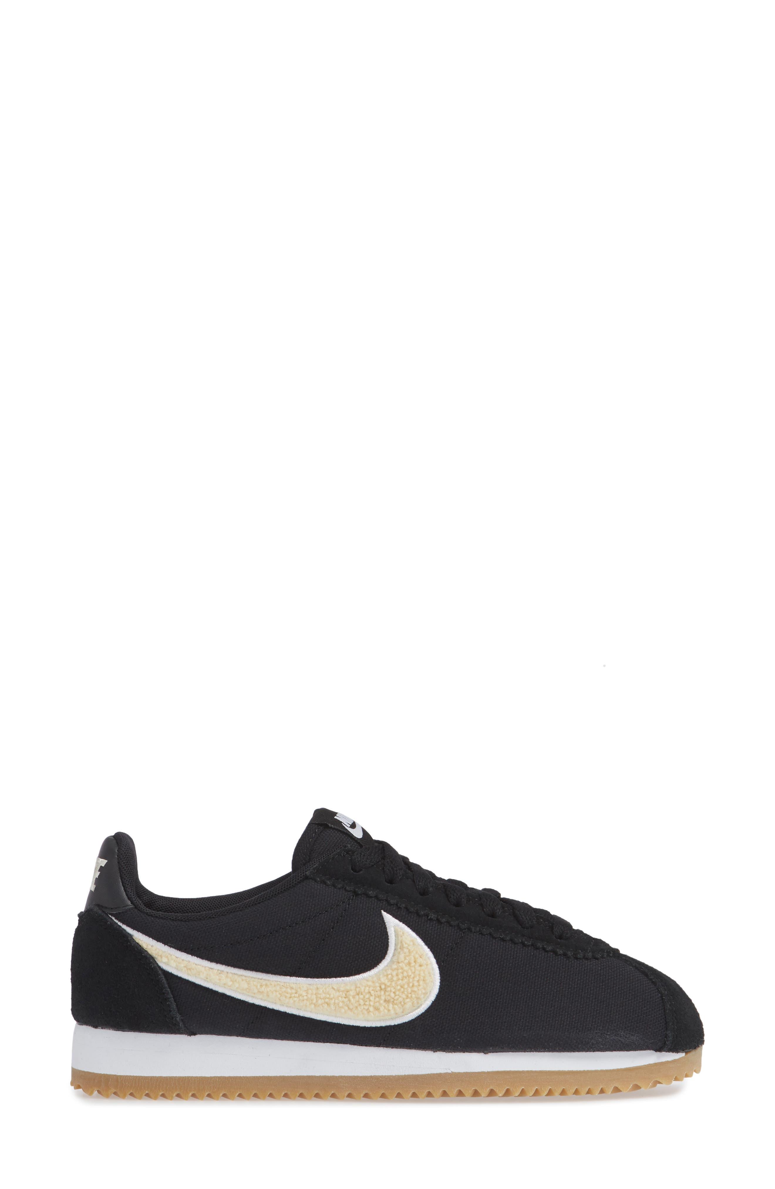 Classic Cortez Premium XLV Sneaker,                             Alternate thumbnail 6, color,                             Black/ Light Cream/ Brown