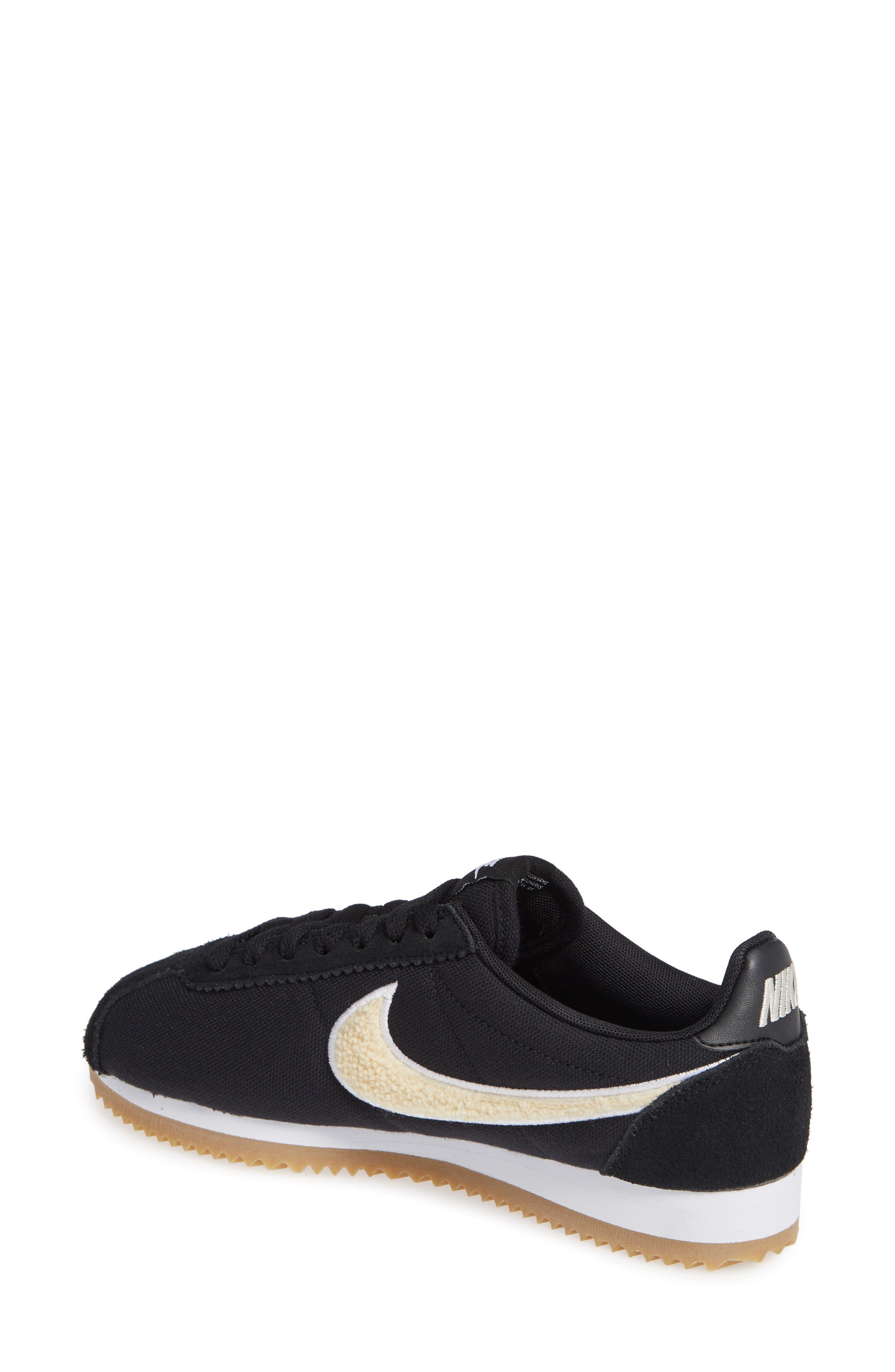 Classic Cortez Premium XLV Sneaker,                             Alternate thumbnail 2, color,                             Black/ Light Cream/ Brown