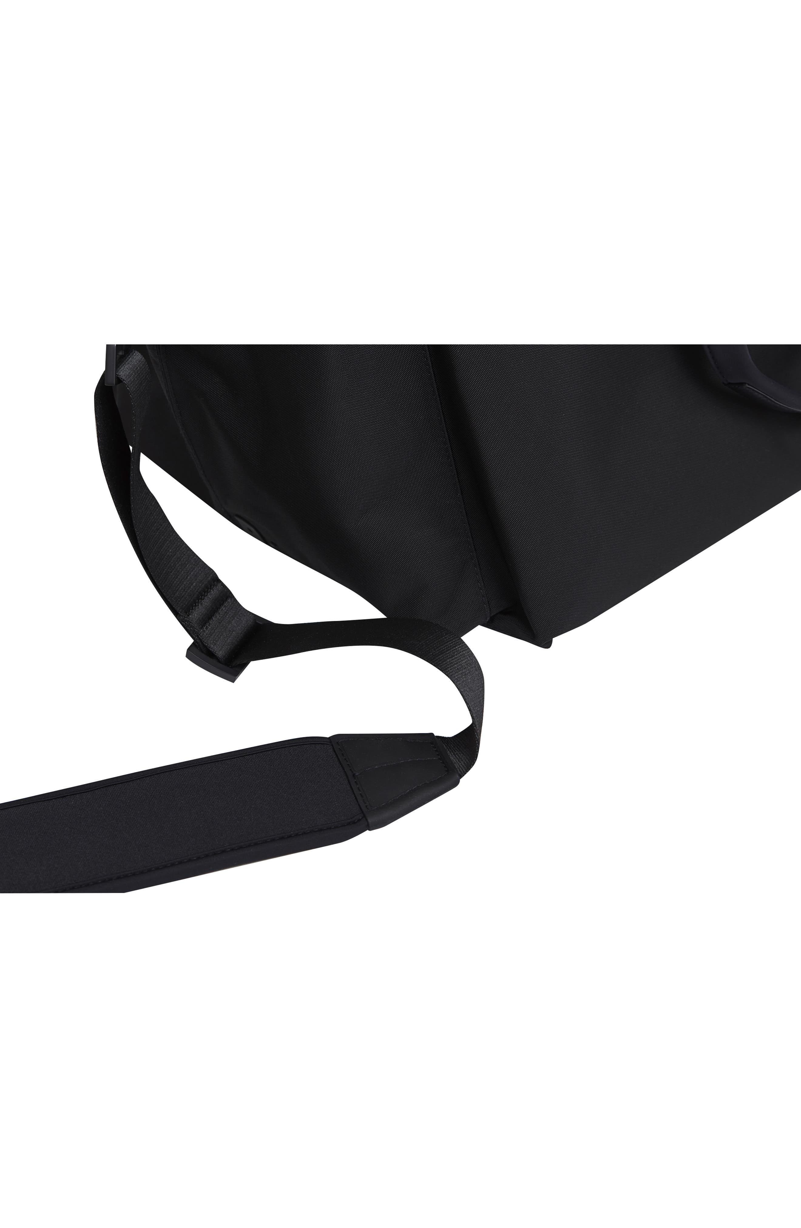 Lightweight Duffel Bag,                             Alternate thumbnail 9, color,                             Black Nylon/ Black Leather