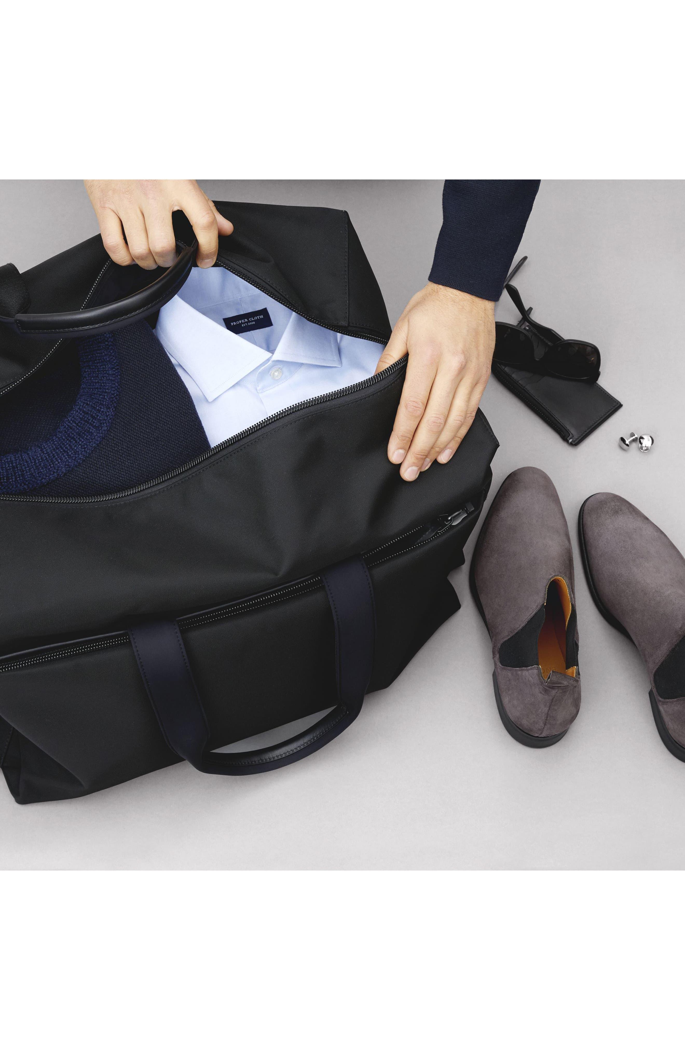Lightweight Duffel Bag,                             Alternate thumbnail 11, color,                             Black Nylon/ Black Leather