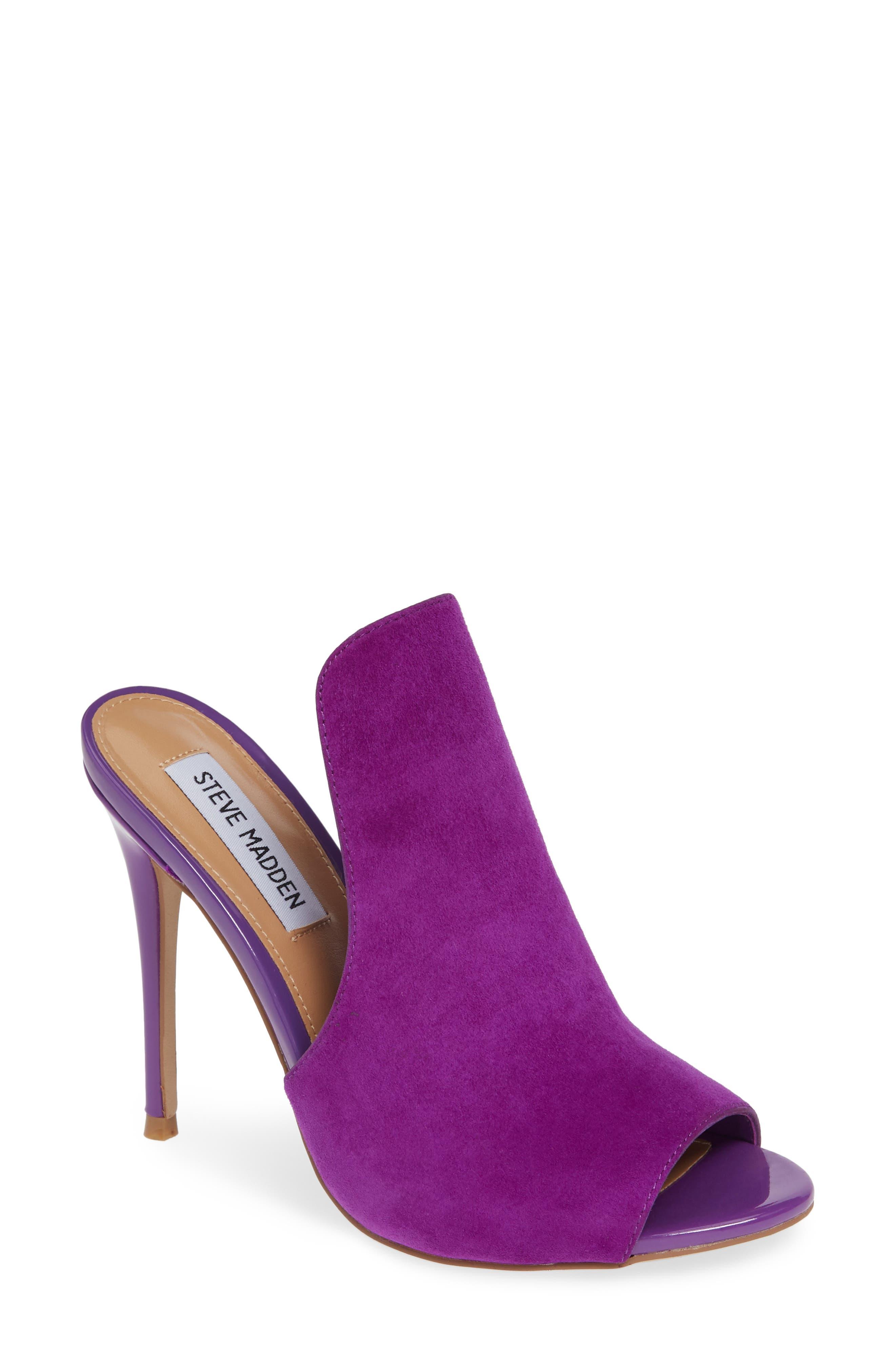 Sinful Sandal,                         Main,                         color, Purple Suede