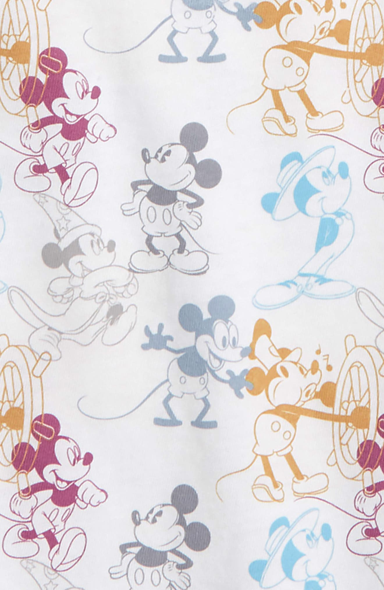 Disney<sup>®</sup> Mickey Mouse T-Shirt,                             Alternate thumbnail 2, color,                             White
