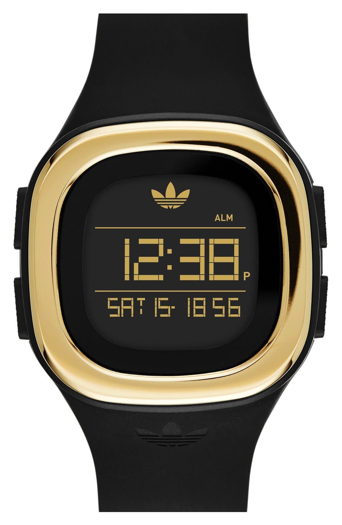 Main Image - adidas Originals Denver Digital Silicone Strap Watch, 42mm