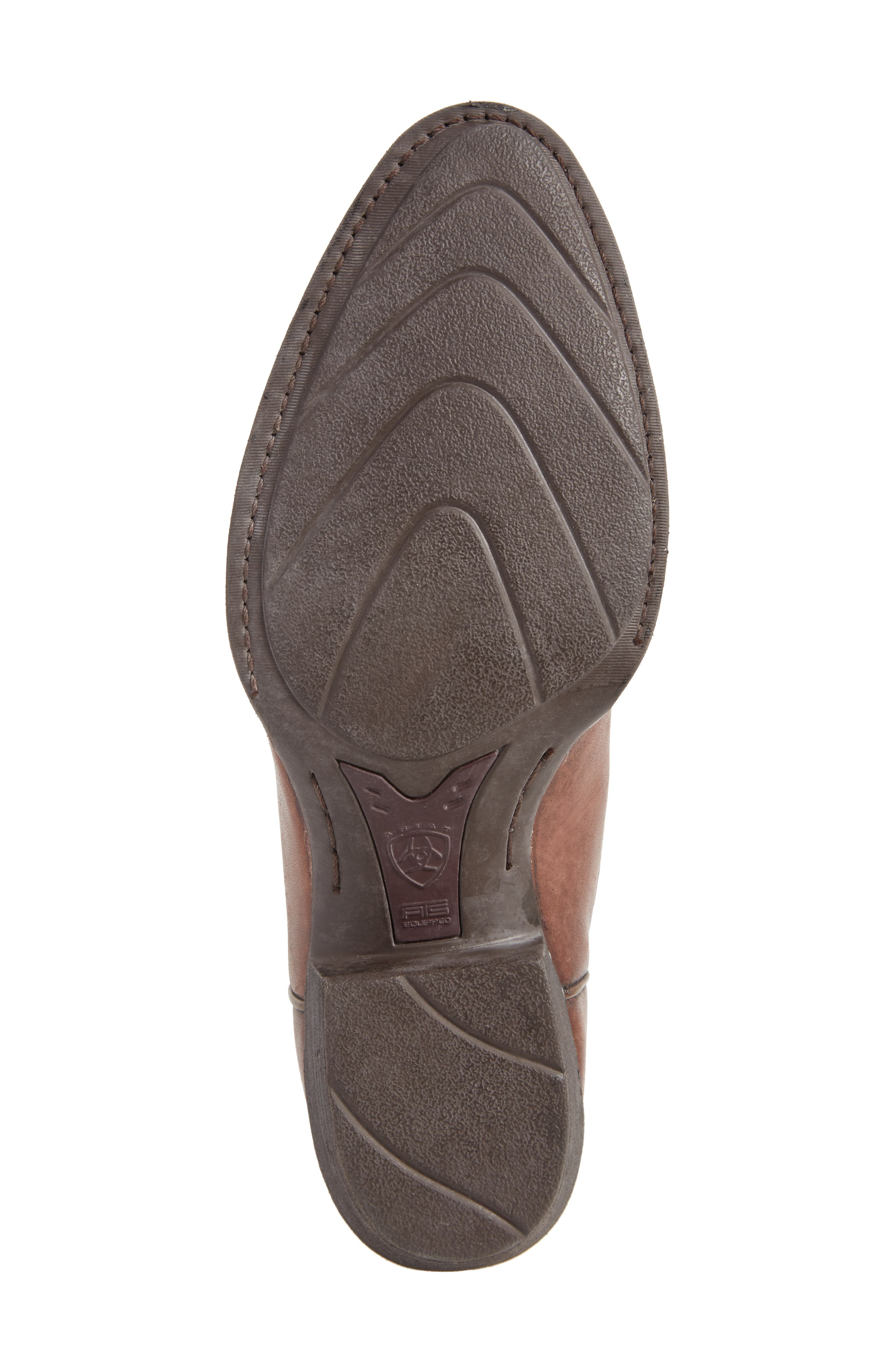 Heritage Calhoun Western R-Toe Boot,                             Alternate thumbnail 4, color,                             Natural Brown Leather