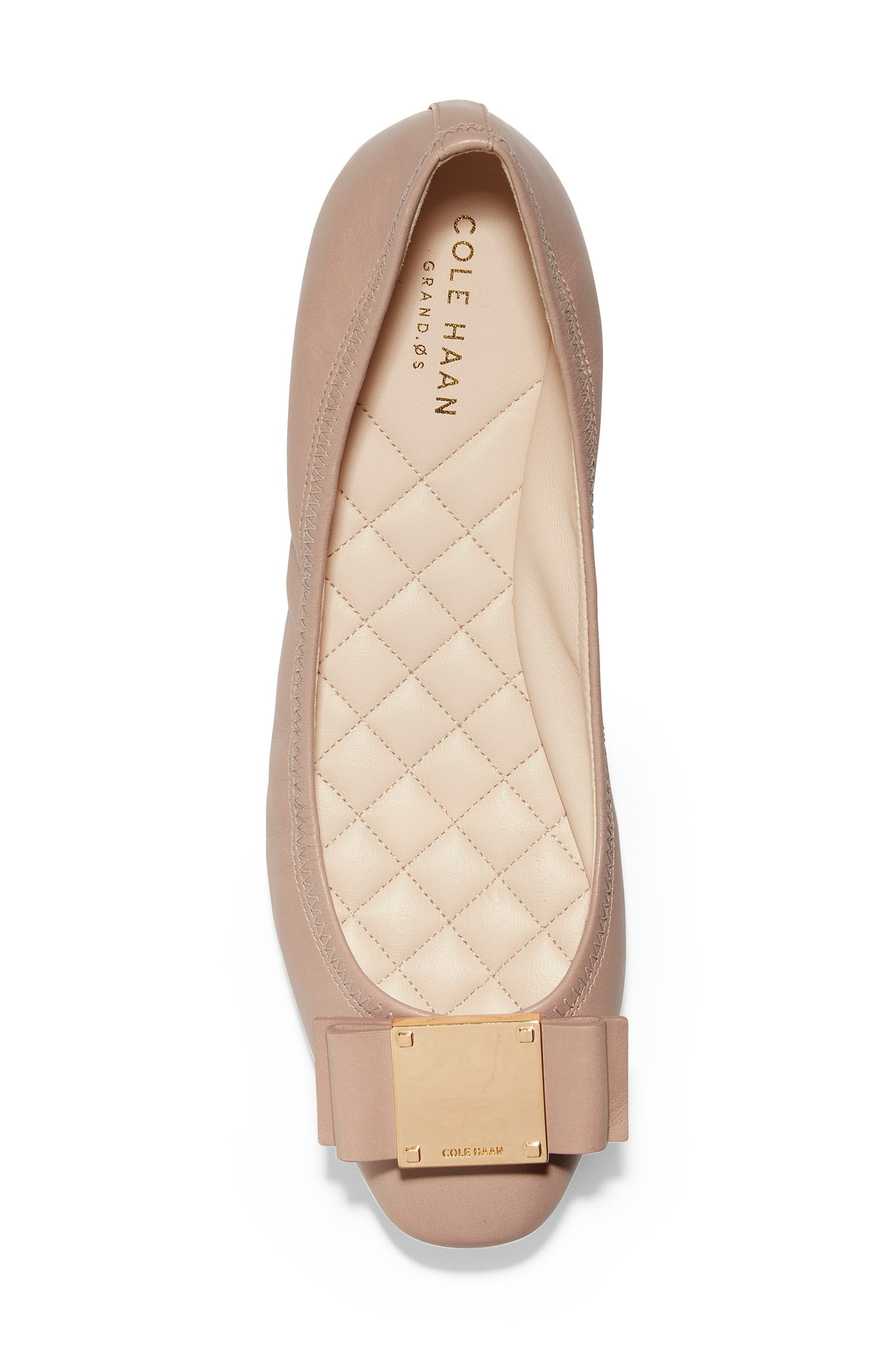 Tali Modern Bow Ballet Flat,                             Alternate thumbnail 6, color,                             Nude Leather