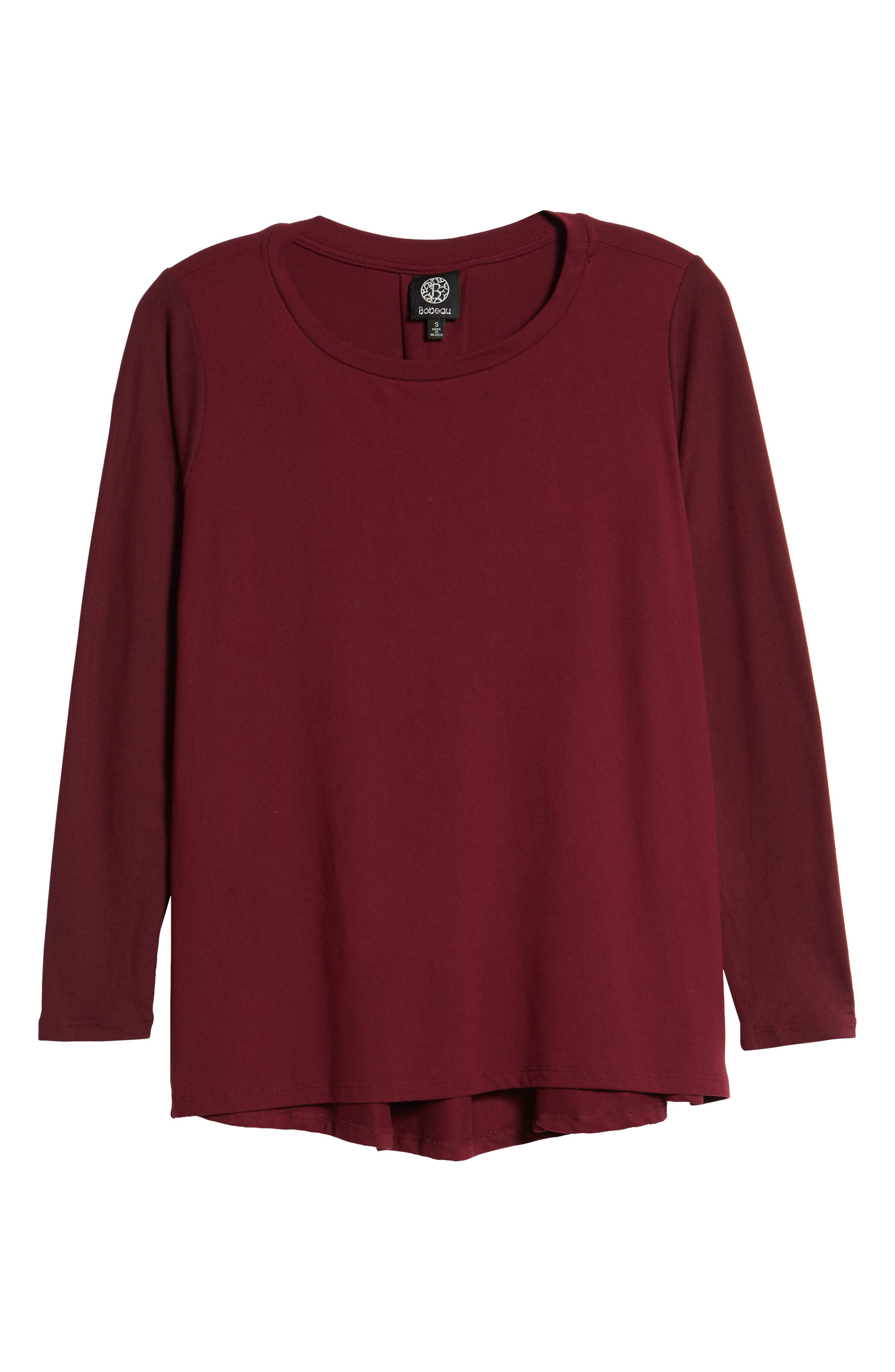 Butter High/Low Top,                         Main,                         color, Burgundy