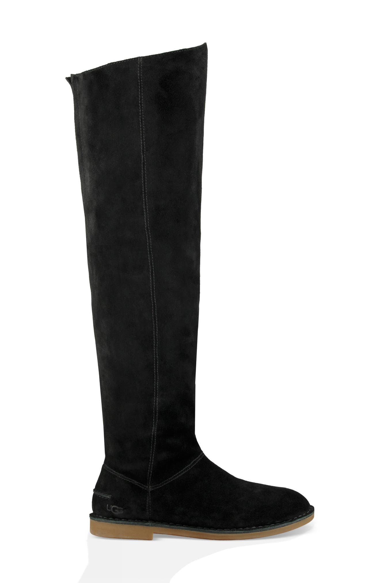 Loma Over the Knee Boot,                             Alternate thumbnail 3, color,                             Black Suede