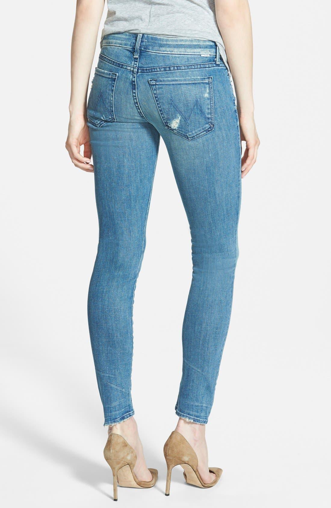 Alternate Image 2  - MOTHER 'The Looker' Skinny Stretch Jeans (Graffiti Girl)