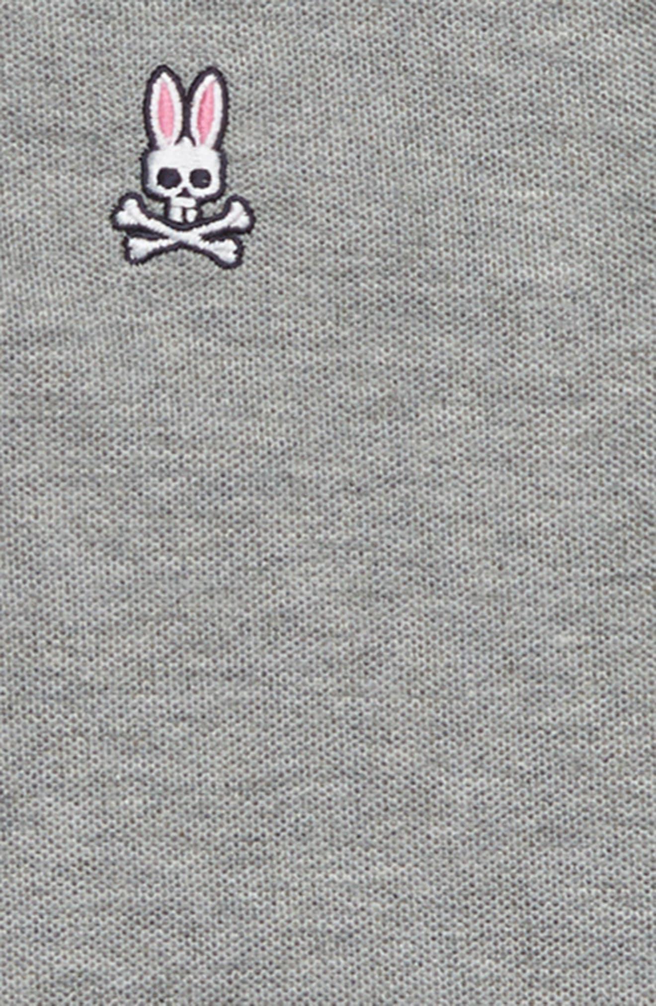 Contrast Collar Polo,                             Alternate thumbnail 2, color,                             Heather Grey