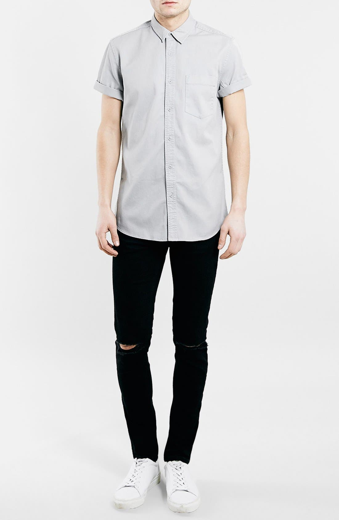 Alternate Image 2  - Topman Ripped Stretch Skinny Fit Jeans