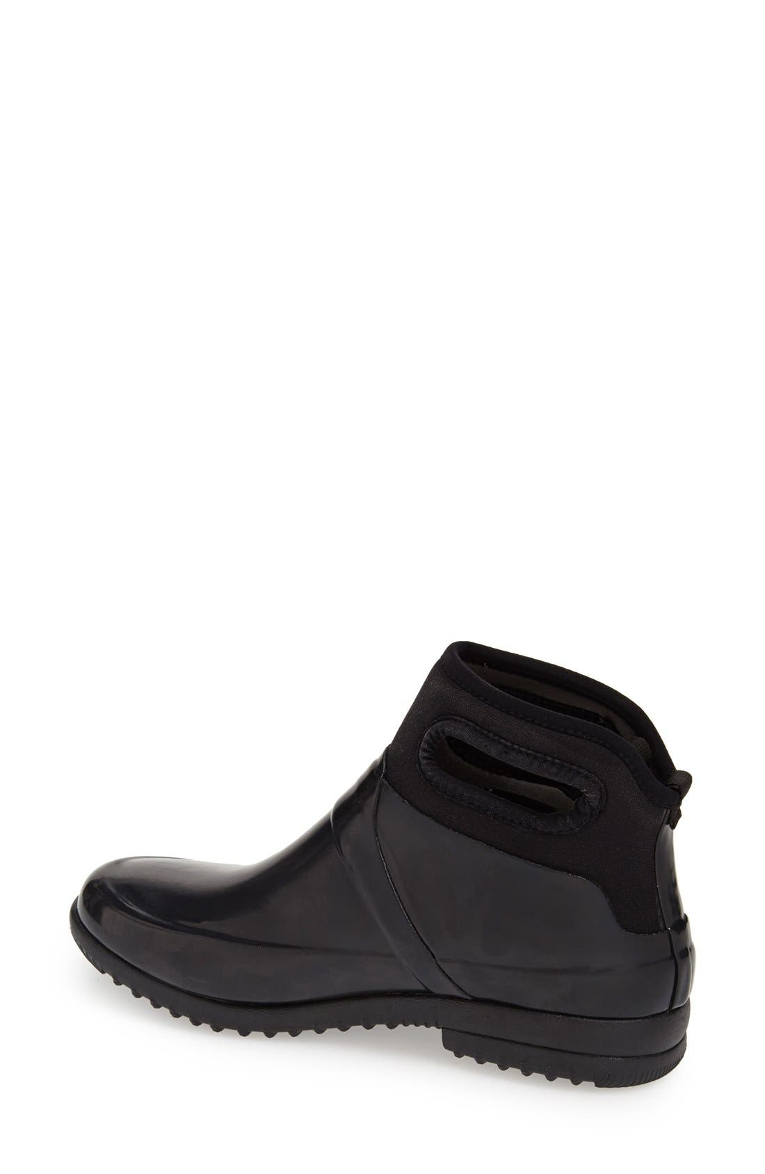 'Seattle' Waterproof Short Boot,                             Alternate thumbnail 2, color,                             Black