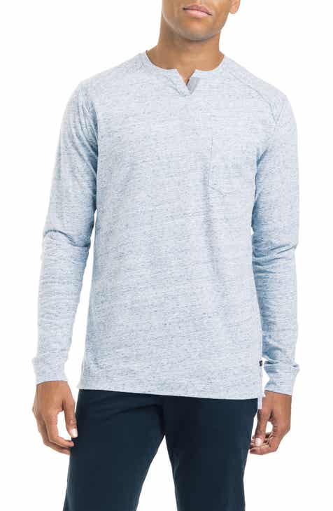Mens blue henley long sleeve t shirts nordstrom good man brand slim fit notched long sleeve t shirt publicscrutiny Choice Image
