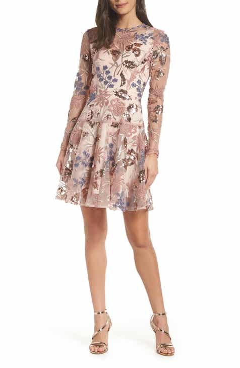 Bronx And Banco Aurora Embroidered Fit Flare Dress