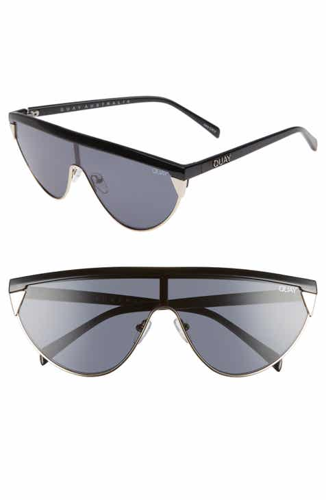 9984776352ebe Quay Australia x Elle Ferguson Goldie 48mm Shield Sunglasses
