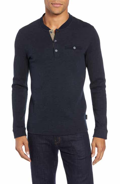 9daf902c5438 Ted Baker London Slim Fit Mojave Thermal Pocket Henley