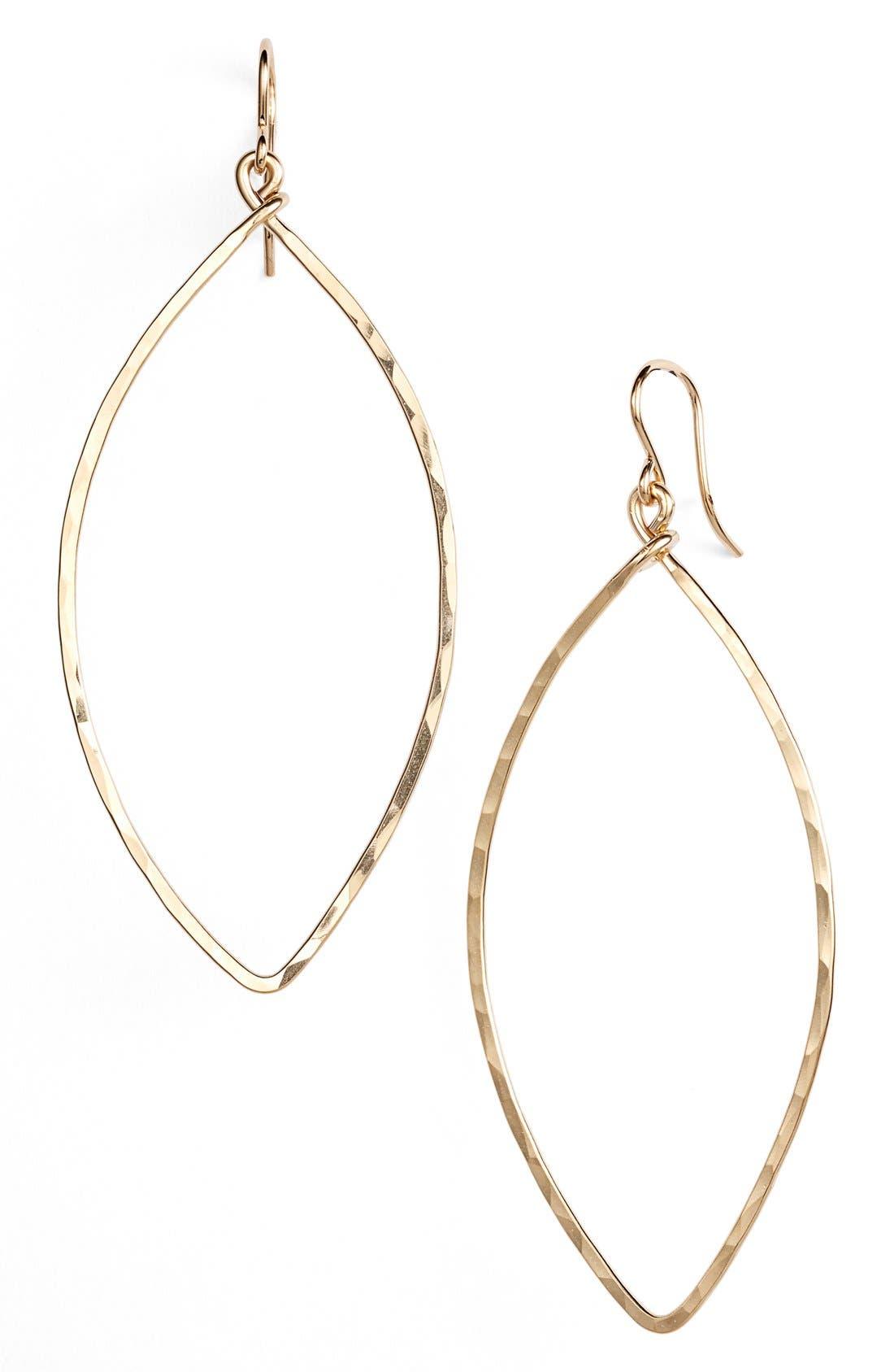 Main Image - Nashelle Ija Oblong Hoop Earrings