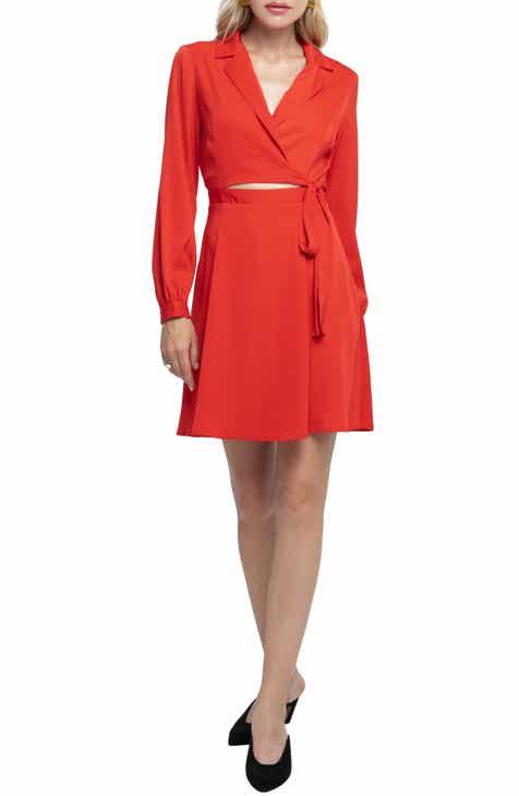 38ef4b6c038 ASTR the Label Cutout Wrap Dress