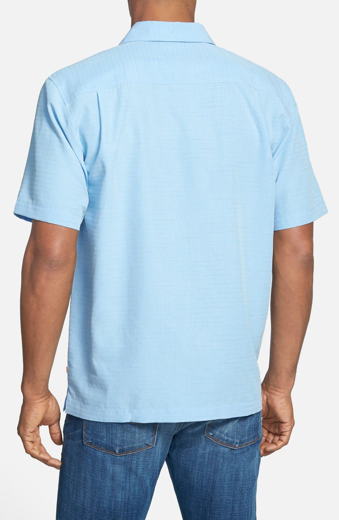 'Centinela 4' Short Sleeve Sport Shirt,                             Alternate thumbnail 2, color,                             Azure