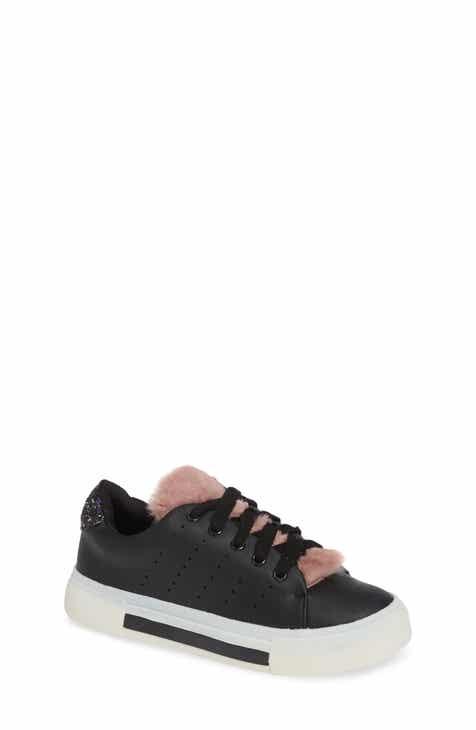 3ab1c309d1c8f3 Dolce Vita Cabel Glitter Faux Fur Sneaker (Toddler