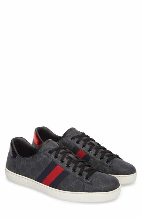 40df89e7f81 Gucci New Ace Webbed Low Top Sneaker (Men)