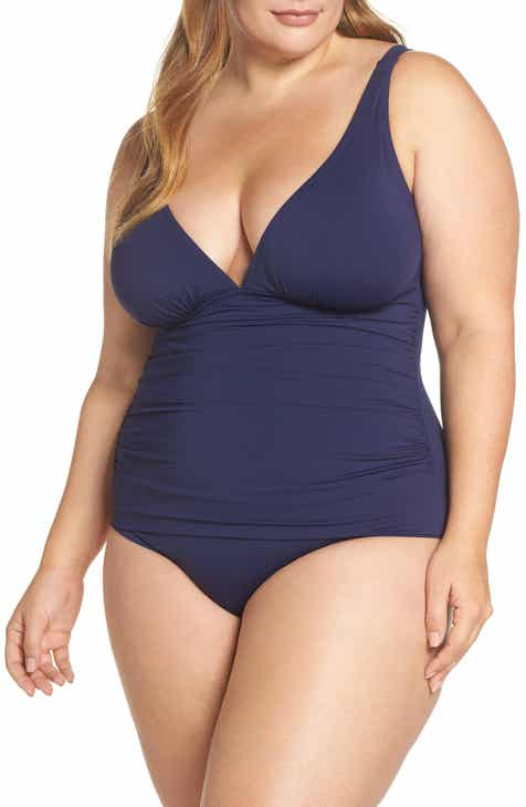 d5000d35d0 Tommy Bahama Pearl One-Piece Swimsuit (Plus Size)