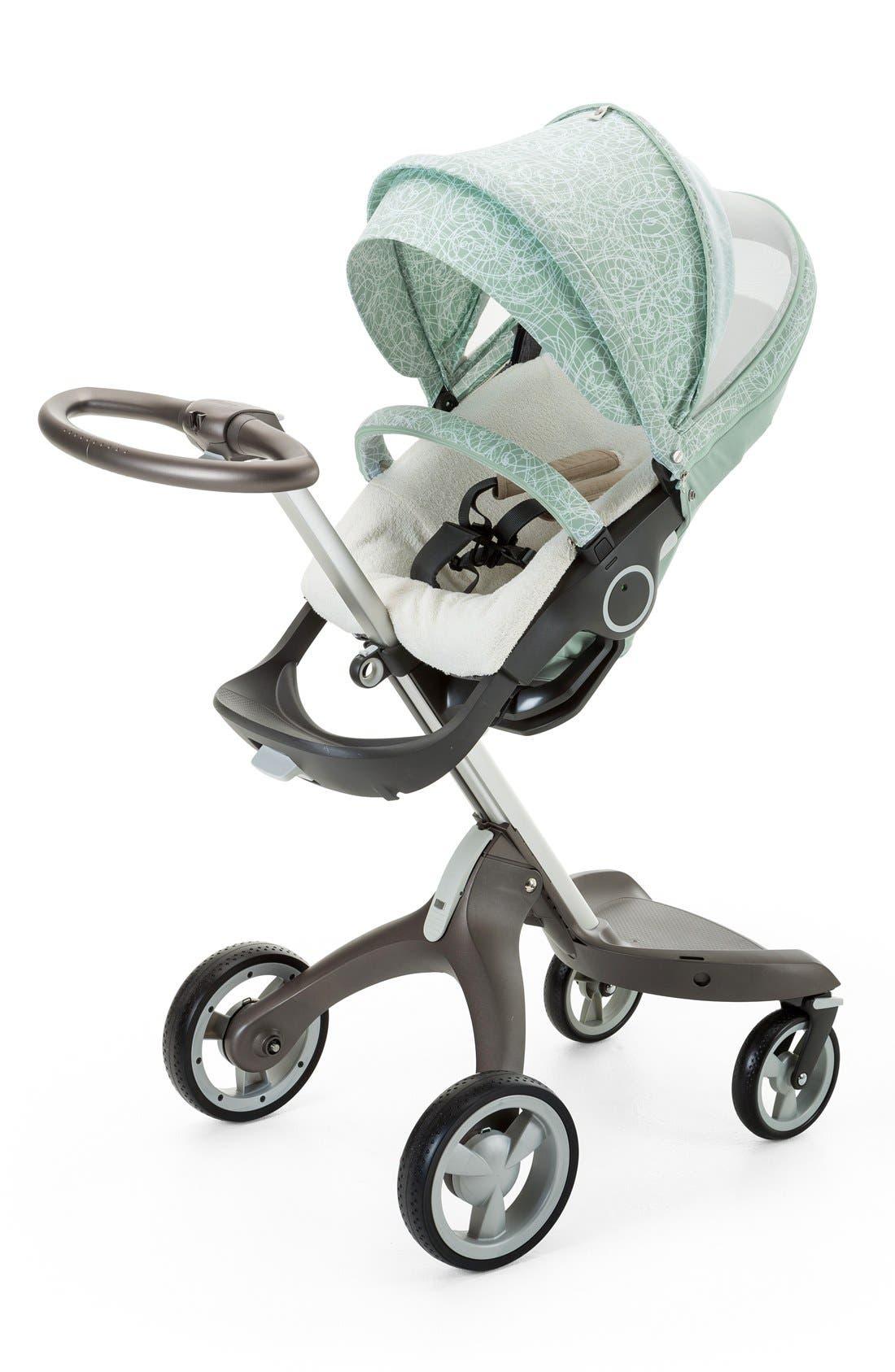 Baby 'Xplory<sup>®</sup> Stroller Summer Kit' Shade Set,                             Alternate thumbnail 3, color,                             Salty Blue