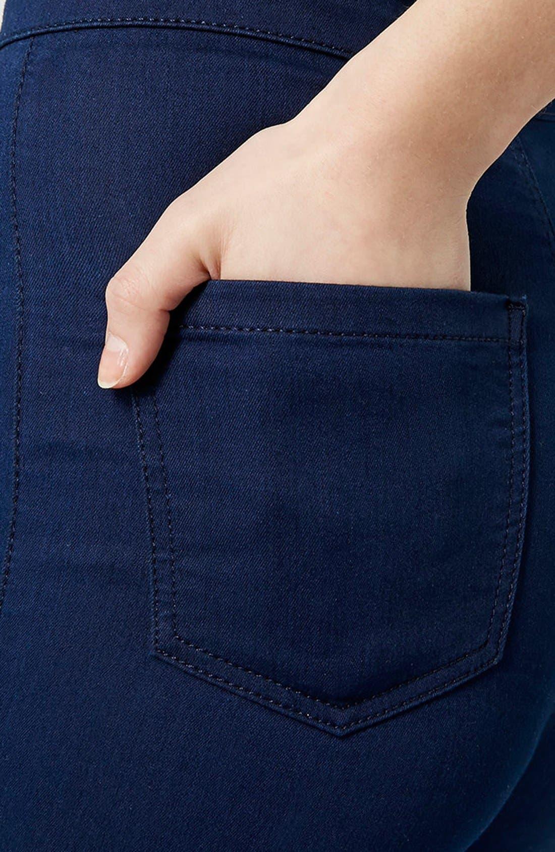 Alternate Image 4  - Topshop Moto 'Joni' High Rise Skinny Jeans (Bright Blue)