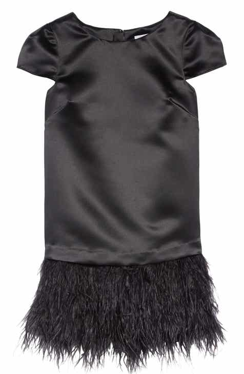 Milly Minis Bella Feather Dress (Big Girls)