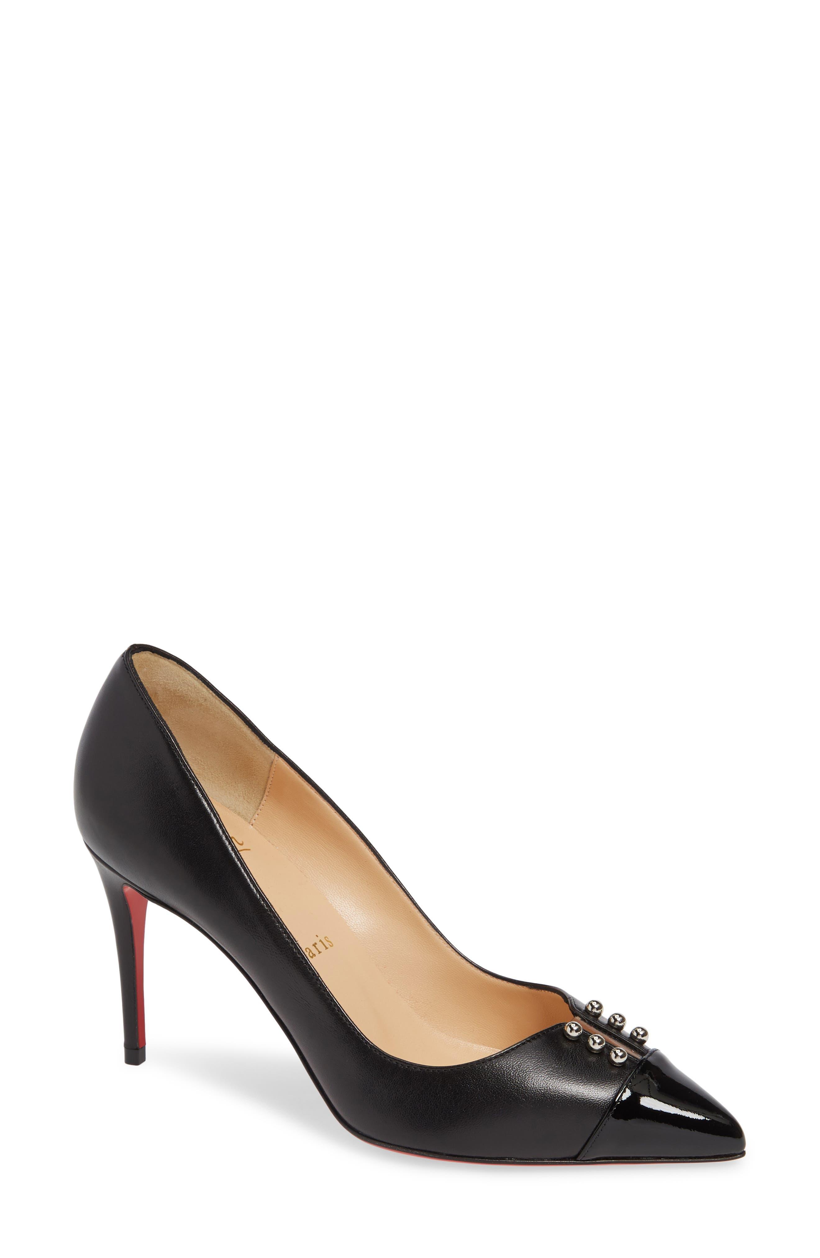 8ee9200cc0f3 ... open toe pump b9cc3 f3890  sale christian louboutin predupump studded pump  women 3ea23 a65bc