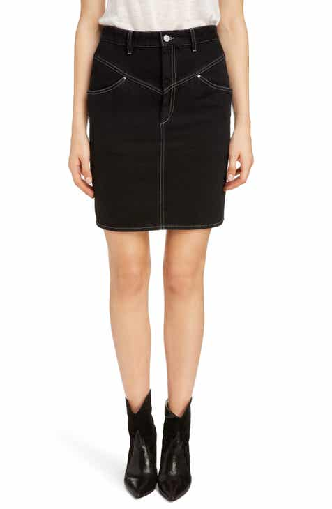 Isabel Marant '80s High Waist Denim Skirt by ISABEL MARANT