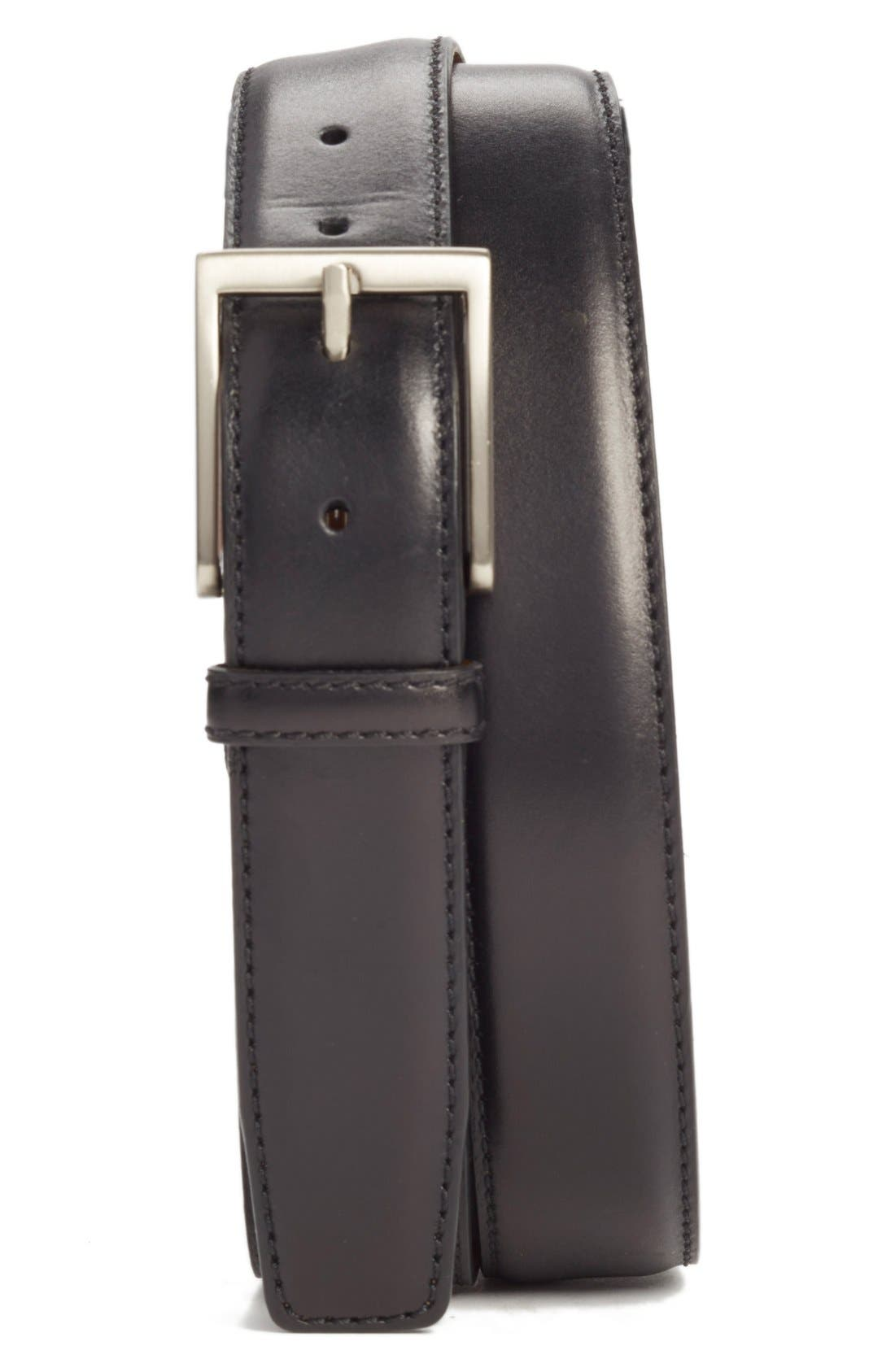 Catania Leather Belt,                         Main,                         color, Black