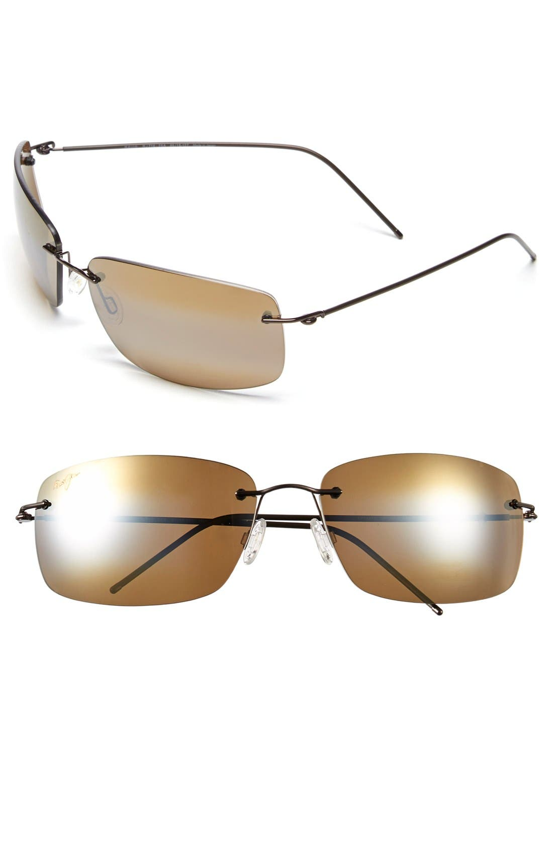 6b78ff64668c MAUI JIM 'Frigate - Polarizedplus2' 65Mm Polarized Sunglasses - Gloss Dark  Brown/ Hcl