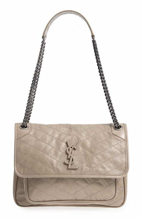 d49cfae8aa Saint Laurent Medium Niki Leather Shoulder Bag