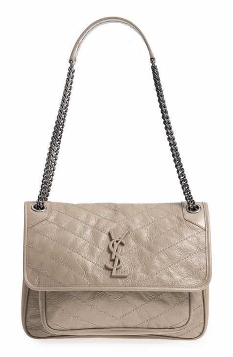 837fc0dc56 Saint Laurent Medium Niki Leather Shoulder Bag