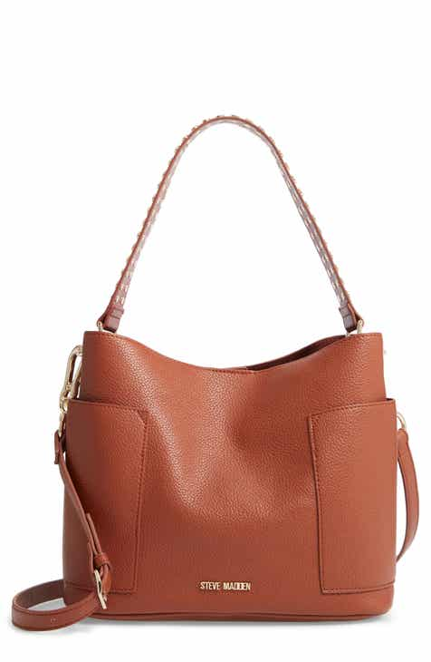29ea73a80a Steve Madden Studded Faux Leather Hobo