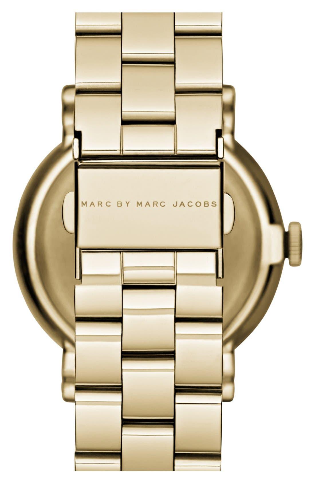 Alternate Image 2  - MARC JACOBS 'Baker' Crystal Index Bracelet Watch, 37mm