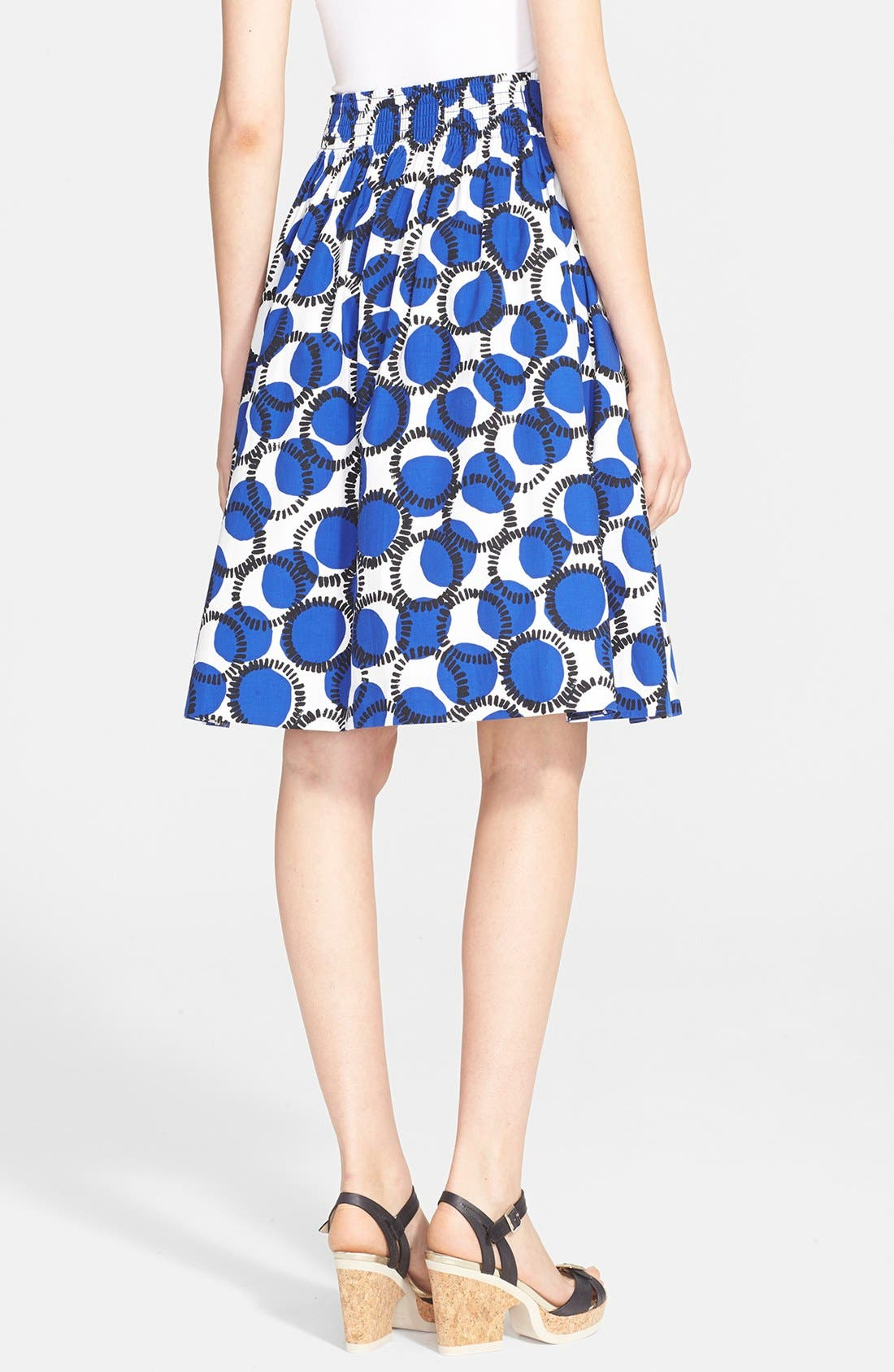 Alternate Image 2  - kate spade new york 'stamped dots blaire' print flare skirt
