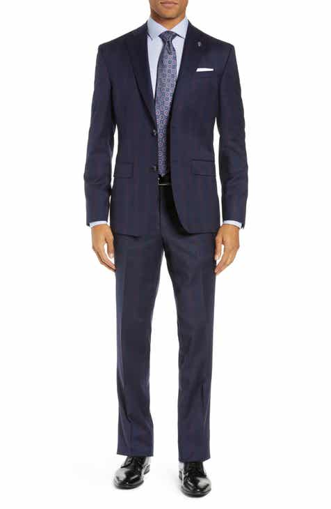 9c52ab41162 Ted Baker London Jay Trim Fit Plaid Wool Suit
