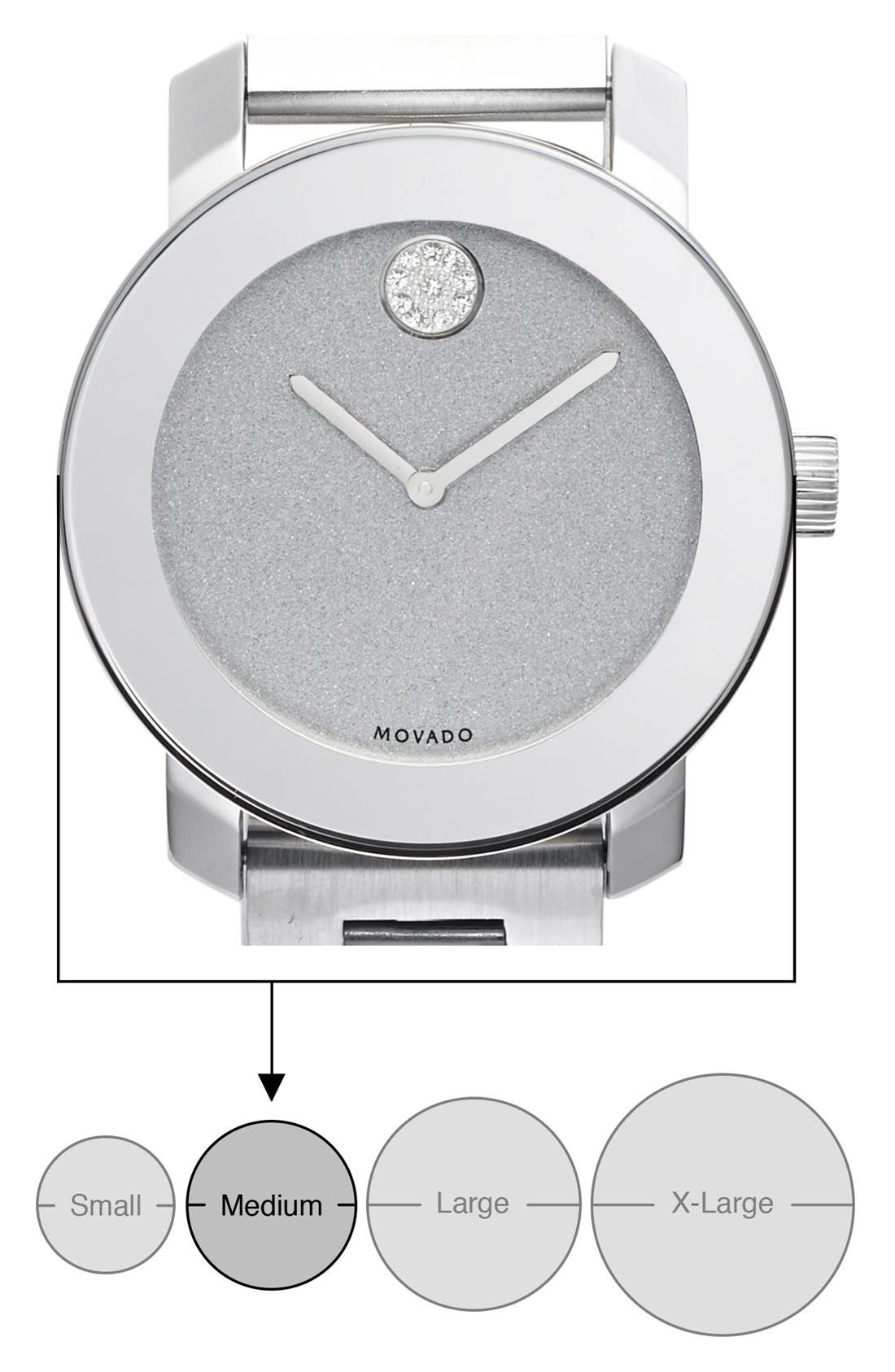 Alternate Image 2  - Movado Bold Crystal Marker Bracelet Watch, 36mm (Nordstrom Online Exclusive)