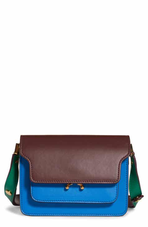 7db6d93ae2bd Marni Small Trunk Colorblock Leather Shoulder Bag