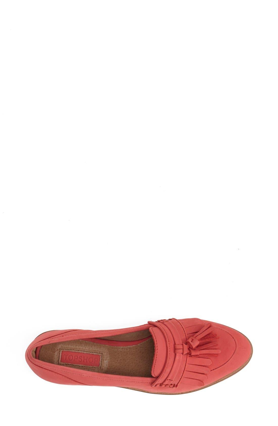 Alternate Image 3  - Topshop 'Kink' Fringed Leather Tassel Loafer (Women)