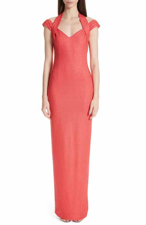 St. John Collection Links Sequin Knit Halter Gown by ST. JOHN COLLECTION