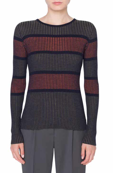 Akris punto Stripe Merino Wool Pullover by AKRIS PUNTO