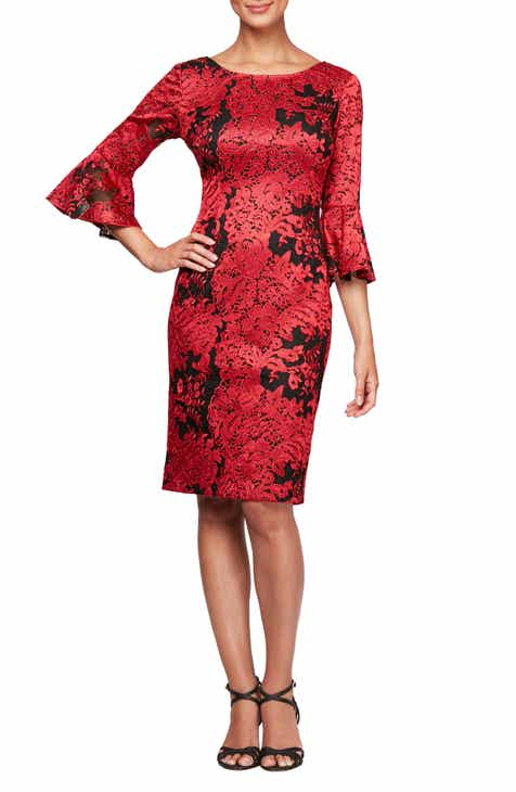 e71a8f91bb44 Alex Evenings Embroidered Lace Shift Dress
