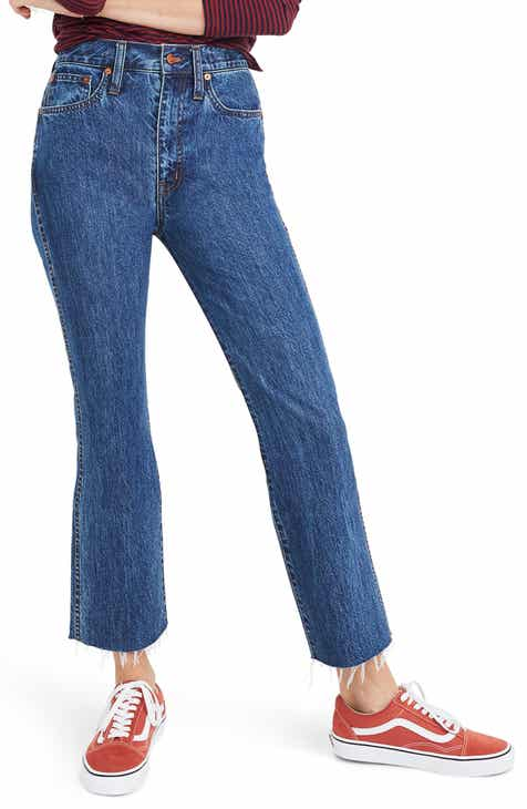 Madewell Rigid Demi Boot Crop Jeans (MacGill) by MADEWELL