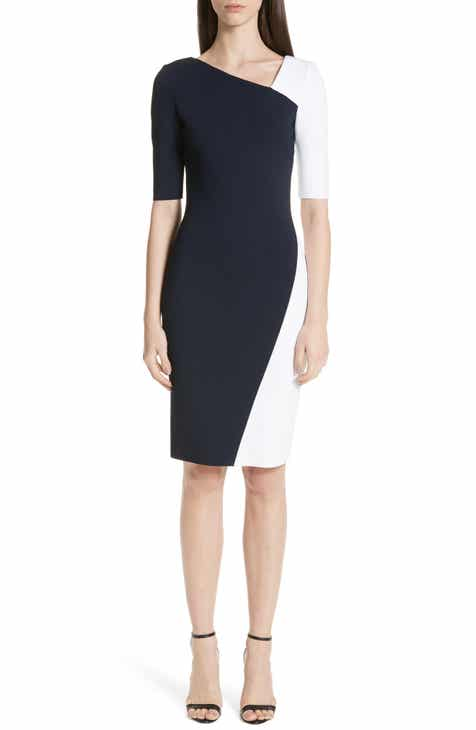 f92e6a29193c St. John Collection Colorblock Luxe Sculpture Knit Dress