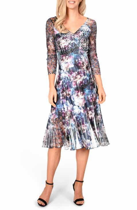 17a4cd87de346 Komarov Charmeuse Chiffon A-Line Dress