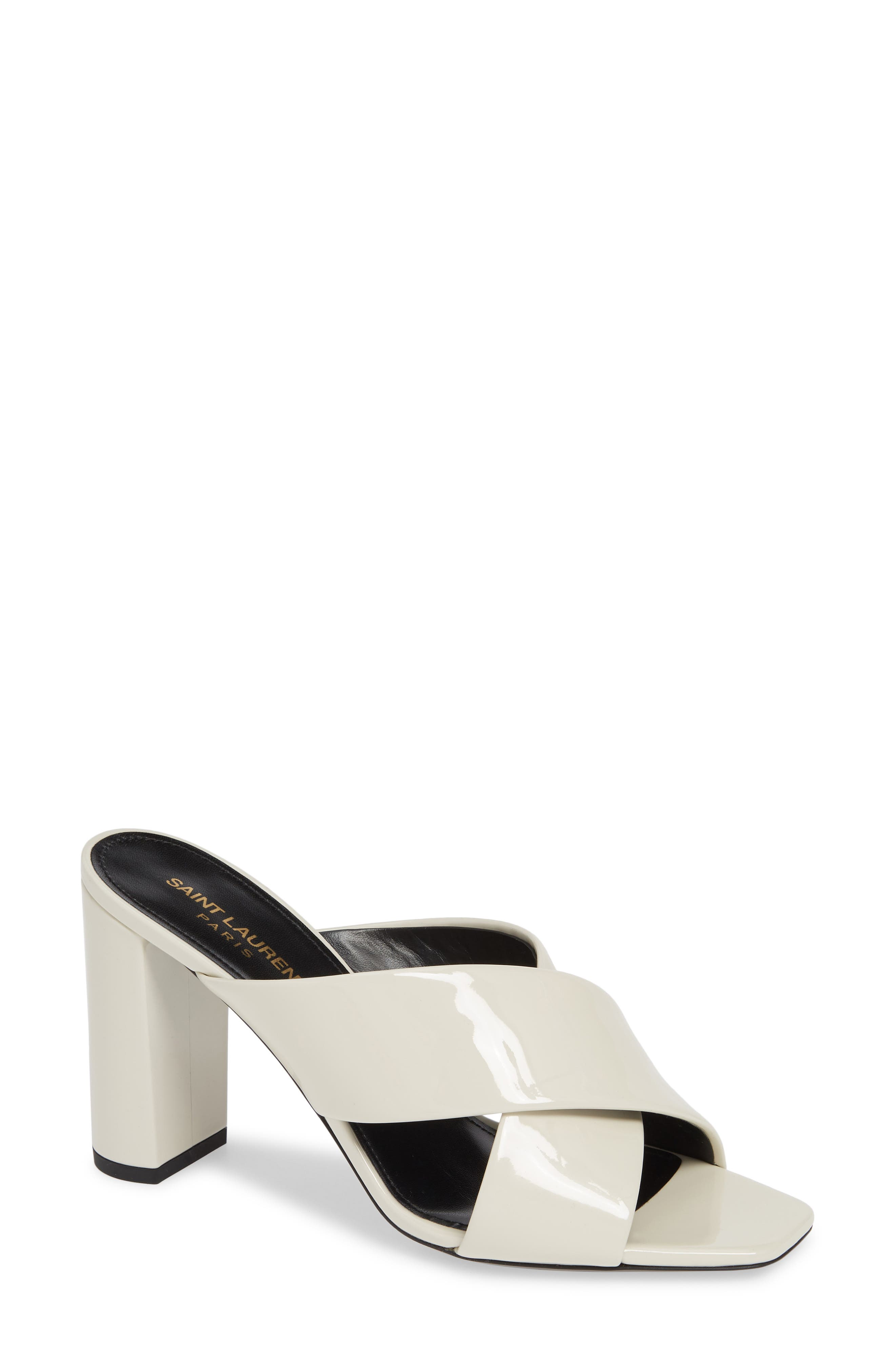 56eb060e35f07 Saint Laurent Block-Heel Sandals for Women