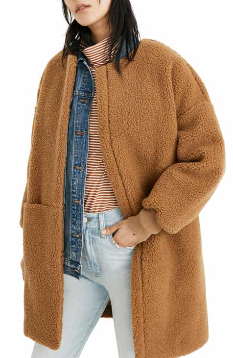 9c873b75bb1bf Madewell Bonded Fleece Cocoon Coat